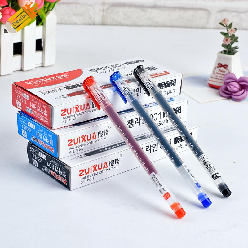 ปากกาน้ำเงิน ปากกาดำ ปากกาแดง ขนาด0.38/0.5mm ปากกาออฟฟิศ